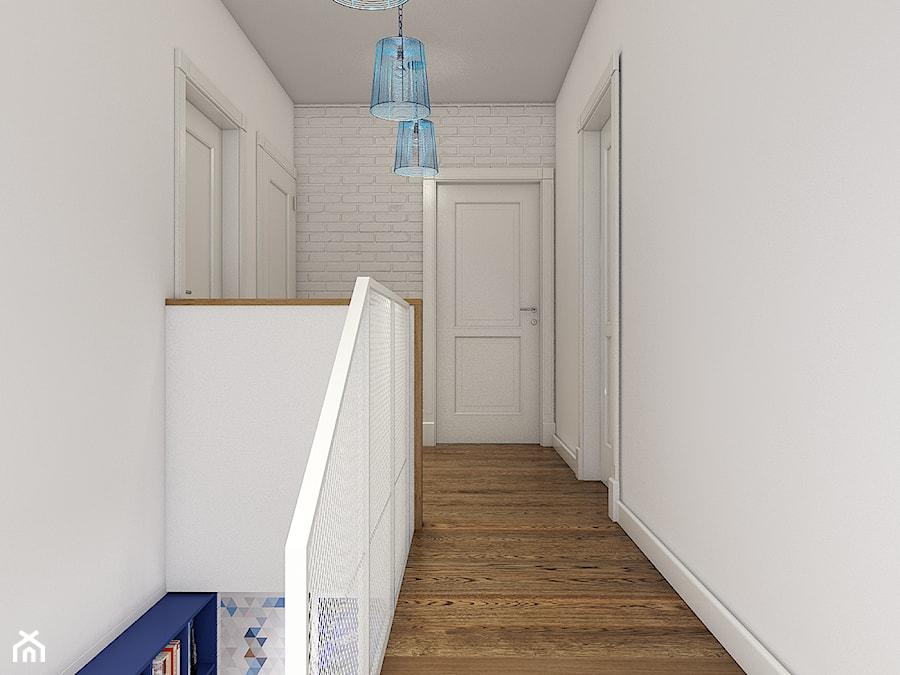 Z indygo - Średni biały hol / przedpokój - zdjęcie od WERDHOME