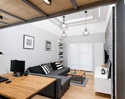 APARTAMENT Z ANTRESOLAMI - Mały szary salon, styl nowoczesny - zdjęcie od HOUSE DESIGN