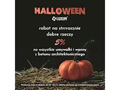 Umywalki z betonu architektonicznego - promocja na Halloween