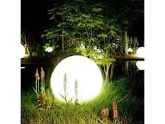 Świecące kule w ogrodzie