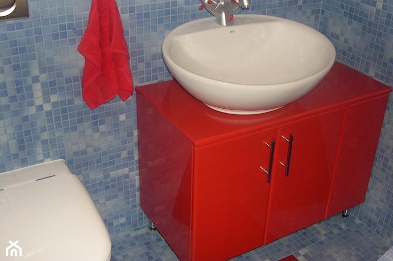 Bardzo dobra Meble łazienkowe lakierowane na wysoki połysk w kolorze czerwonym VX09