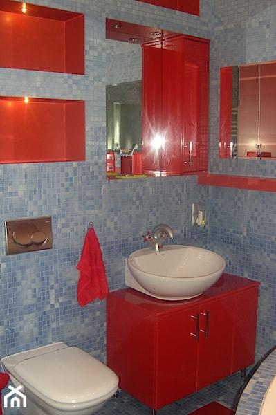 Ogromnie Meble łazienkowe lakierowane na wysoki połysk w kolorze czerwonym SD63