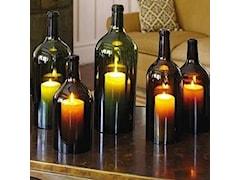 Lampiony z butelek