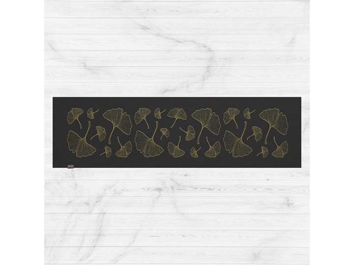 Czarny bieżnik ze złotym haftem FIRENZE czarny 40 x 100 cm Poliester Prostokątny Kategoria Obrusy i serwety do kuchni