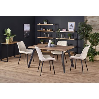 Stół rozkładany BERLIN orzech / czarny