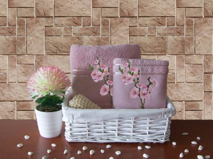 Komplet ręczników bawełnianych Sakura lila, Turkiz