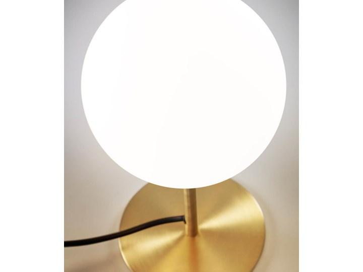 Lampa stolowa Mahala ze stali i szkla matowego Kategoria Lampy stołowe Lampa z kloszem Kolor Złoty