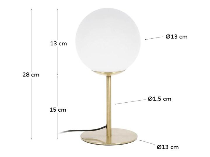 Lampa stolowa Mahala ze stali i szkla matowego Kolor Złoty Lampa z kloszem Kolor Szary