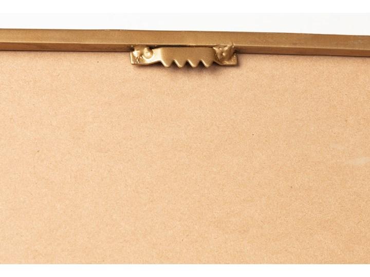Lustro Marcus 30x100 cm złote Prostokątne Ścienne Lustro z ramą Styl Industrialny