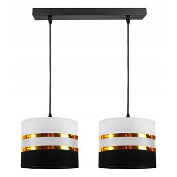 Żyrandol na lince CORAL 2xE27/60W/230V czarno-biały
