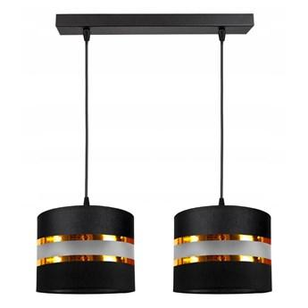 Żyrandol na lince CORAL 2xE27/60W/230V czarny