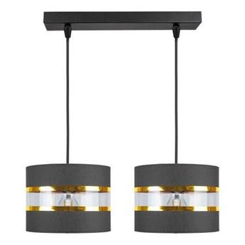 Żyrandol na lince LIND 2xE27/60W/230V czarny