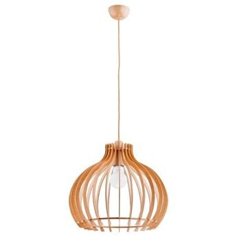 Lampa wisząca zwis LAVAYA drewno śr. 44cm