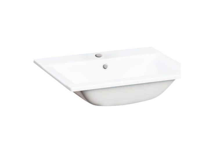 Umywalka wpuszczana Cooke&Lewis Faros ceramiczna 60 x 45 cm biała Prostokątne Ceramika Wpuszczane Kolor Biały