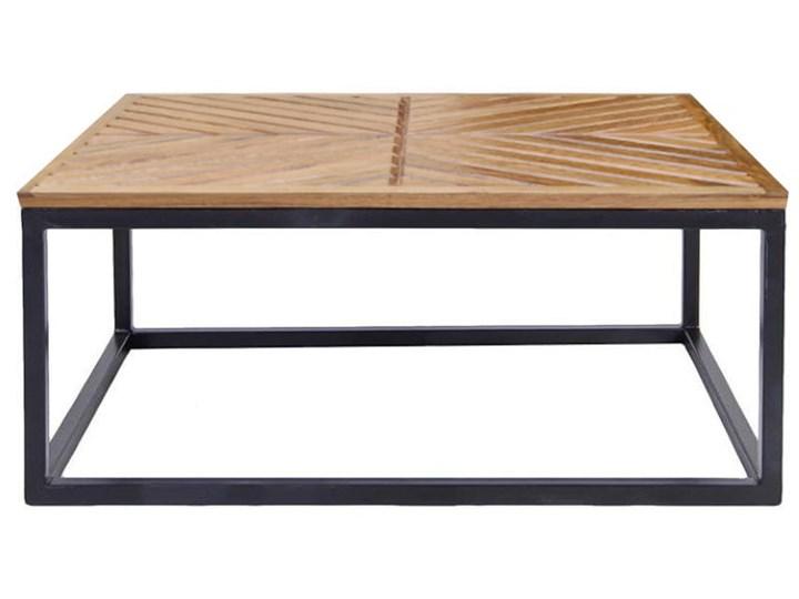 Stolik Kawowy LAG JODŁA (Karmel) Drewno Wysokość 30 cm Zestaw stolików Metal Kształt blatu Prostokątne