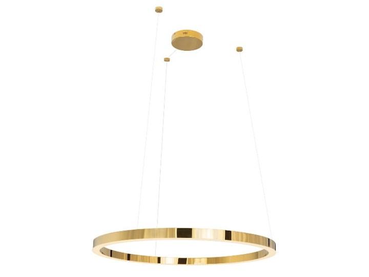 Luxury P0370 lampa wisząca złota duża Lampa LED Metal Kolor Złoty