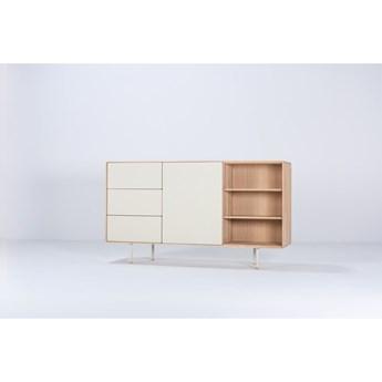 Biała szafka z drewna dębowego Gazzda Fina, szer. 176,4 cm