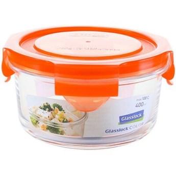 Pojemnik szklany GLASSLOCK MCCB-040-COOR 0.4 L Pomarańczowy
