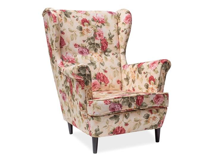 Fotel Uszak Lord Coral WM82 Drewno Tworzywo sztuczne Wysokość 101 cm Wysokość 41 cm Tkanina Szerokość 83 cm Fotel pikowany Głębokość 56 cm Styl Glamour
