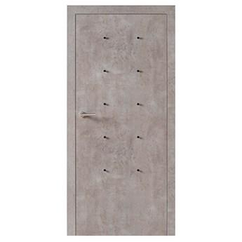Skrzydło drzwiowe VOX Smart z mufami kolor Beton Jasny
