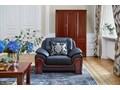 Fotel PALLADIO czarny Wysokość 91 cm Szerokość 117 cm Pomieszczenie Biuro i pracownia Głębokość 90 cm Skóra Fotel tradycyjny Drewno Styl Klasyczny