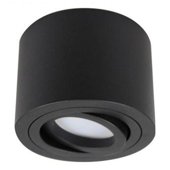 PP P 200 BK MIDI PLAFON NOWOCZESNA LAMPA SUFITOWA OPRAWA NATYNKOWA ALUMINIUM CZARNY LED NISKI 6,5 CM