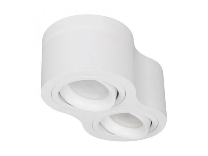 TUBA PODWÓJNA PP P 200/2 WH MIDI PLAFON NOWOCZESNA LAMPA SUFITOWA OPRAWA NATYNKOWA BIAŁY NISKI 6,5 CM Nieregularne Oprawa stropowa Kategoria Oprawy oświetleniowe Oprawa led Kolor Szary