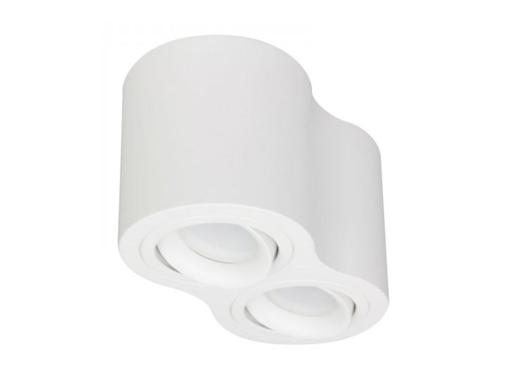 PP P 200/2 WH PLAFON NOWOCZESNA LAMPA SUFITOWA OPRAWA NATYNKOWA PODWÓJNA TUBA