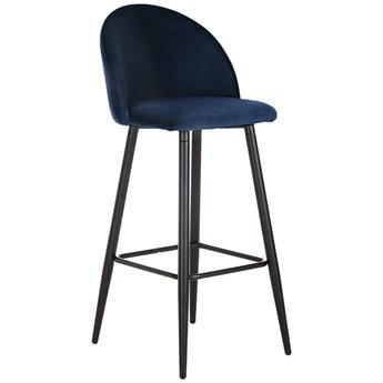 Krzesło barowe z aksamitu Amy