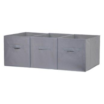 Pudełko 31 x 55 x 33 cm szare 3 szt.