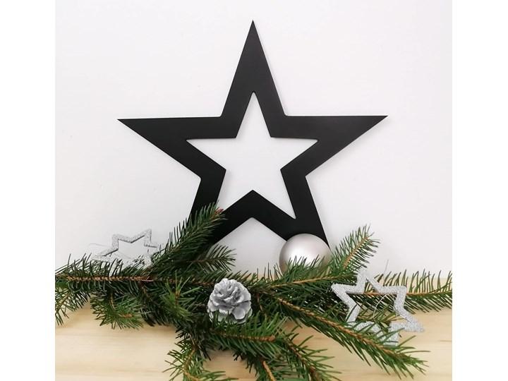 Metalowa ozdoba - gwiazda Kategoria Ozdoby bożonarodzeniowe Gwiazdki Kolor Czarny