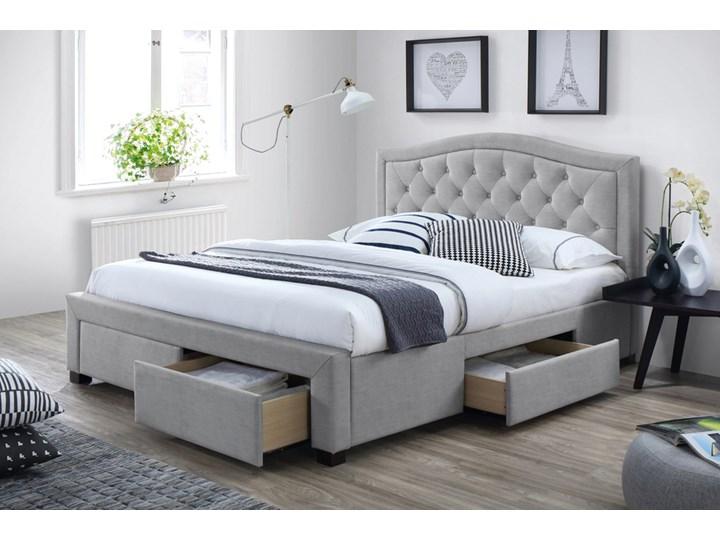 SELSEY Łóżko tapicerowane Elvas z czterema szufladami 160x200 Drewno Tkanina Łóżko pikowane Kategoria Łóżka do sypialni