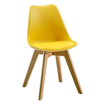Krzesło Kris Lugano Nowoczesne z poduszką żółte