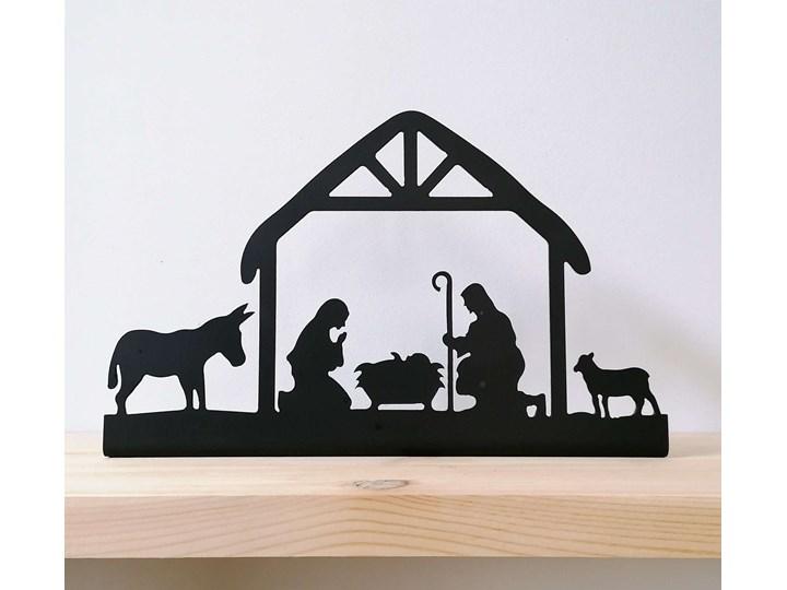 Stajenka - metalowy świecznik Kategoria Ozdoby bożonarodzeniowe Kolor Czarny