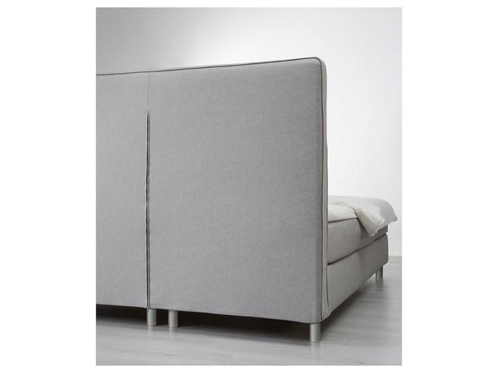 IKEA DUNVIK Łóżko kontynentalne, Valevåg twardy/Tuddal jasnoszary, 160x200 cm Styl Klasyczny