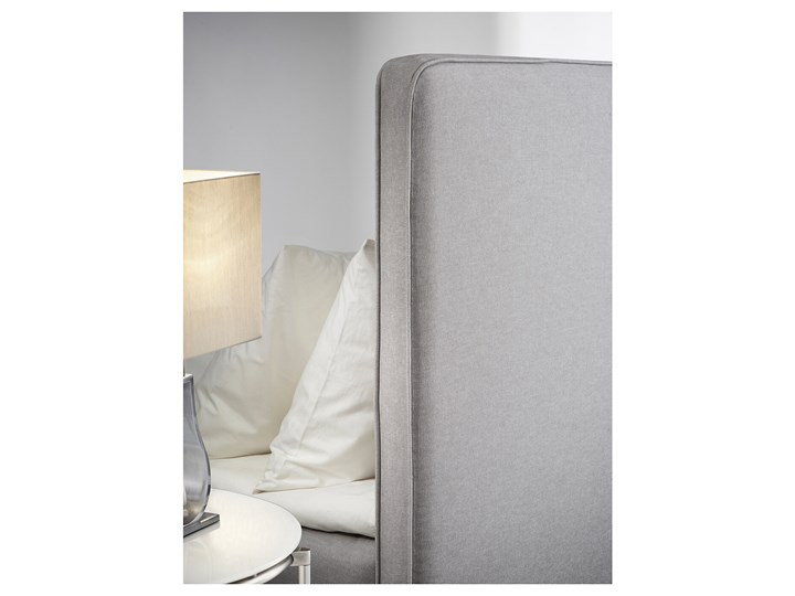IKEA DUNVIK Łóżko kontynentalne, Valevåg twardy/Tuddal jasnoszary, 160x200 cm Kategoria Łóżka do sypialni