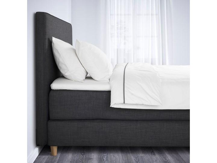 IKEA DUNVIK Łóżko kontynentalne, 160x200 cm Styl Klasyczny Kolor Szary