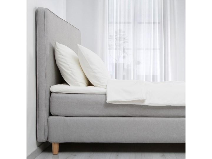IKEA DUNVIK Łóżko kontynentalne, 160x200 cm Kolor Szary Styl Klasyczny