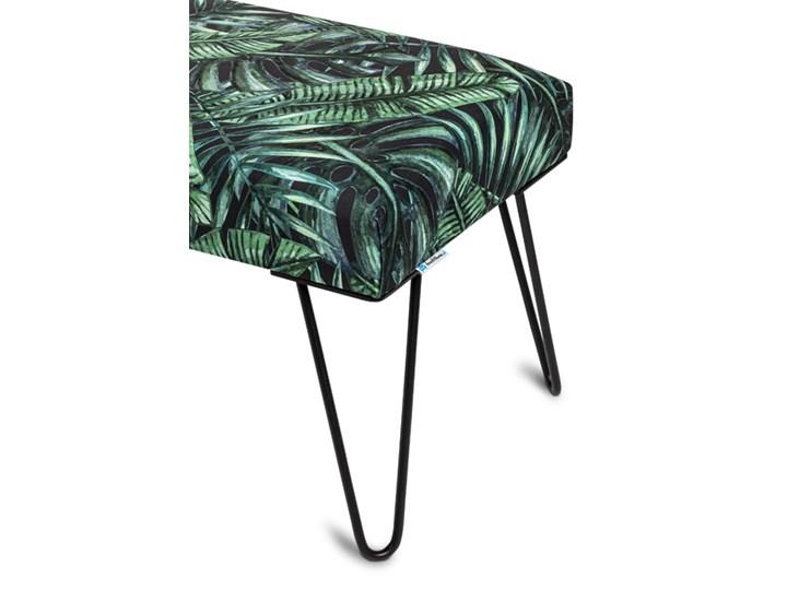 Ławka Tapicerowana Industrialna PIN LOTUS- LOFT Kolor Zielony Materiał obicia Tkanina