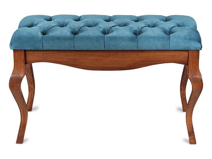 Ławka drewniana z pikowanym siedziskiem - Loren Pikowana Kategoria Ławki do salonu Materiał nóżek Drewno