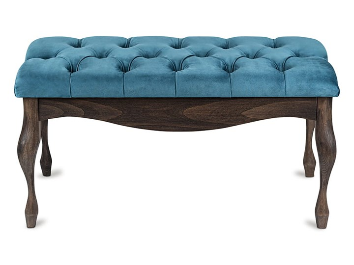 Ławka drewniana z pikowanym siedziskiem - Loren Materiał nóżek Drewno Pikowana Kolor