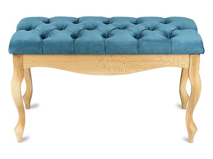 Ławka drewniana z pikowanym siedziskiem - Loren Pikowana Materiał nóżek Drewno
