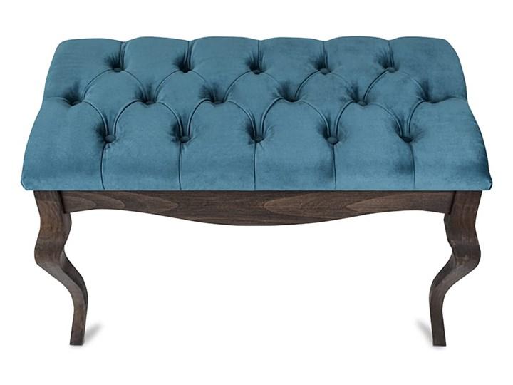 Ławka drewniana z pikowanym siedziskiem - Loren Kategoria Ławki do salonu Pikowana Kolor