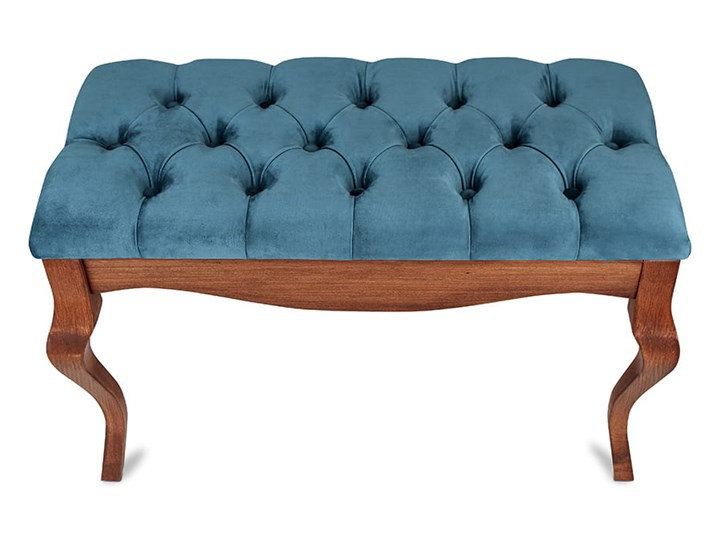 Ławka drewniana z pikowanym siedziskiem - Loren Pikowana Materiał obicia Tkanina