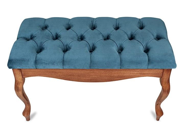 Ławka drewniana z pikowanym siedziskiem - Loren Pikowana Materiał nóżek Drewno Kategoria Ławki do salonu