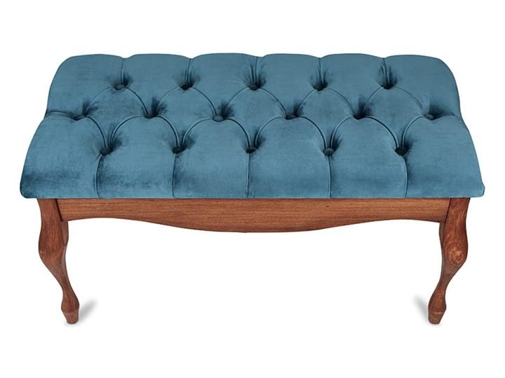 Ławka drewniana z pikowanym siedziskiem - Loren Pikowana Kategoria Ławki do salonu