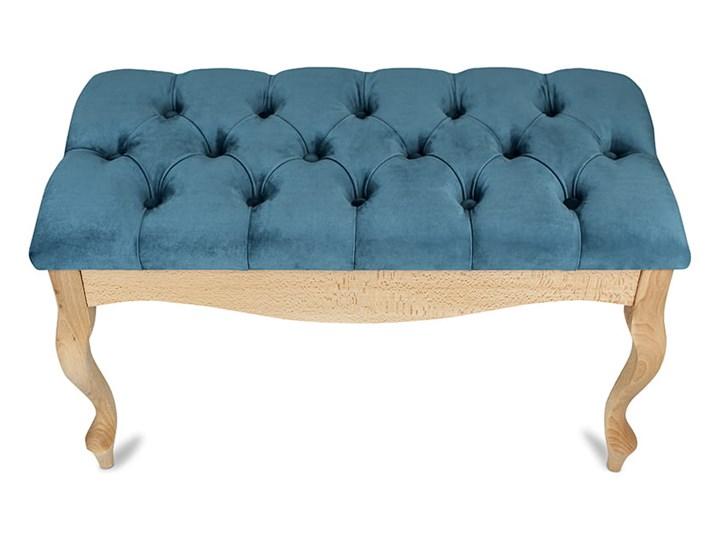 Ławka drewniana z pikowanym siedziskiem - Loren Pikowana Materiał nóżek Drewno Materiał obicia Tkanina