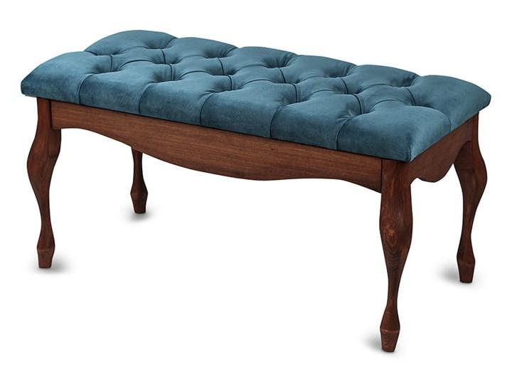 Ławka drewniana z pikowanym siedziskiem - Loren Pikowana Kolor Kategoria Ławki do salonu