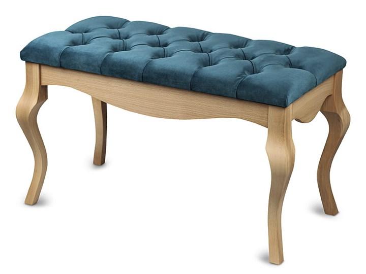 Ławka drewniana z pikowanym siedziskiem - Loren Pikowana Kolor Materiał nóżek Drewno