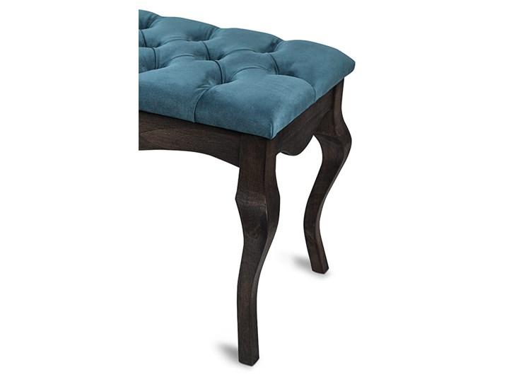 Ławka drewniana z pikowanym siedziskiem - Loren Materiał obicia Tkanina Pikowana Kolor